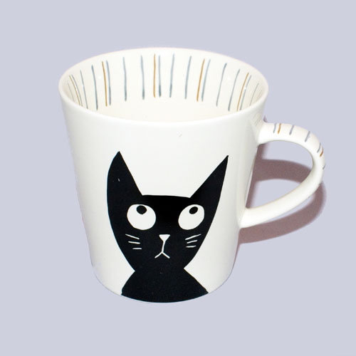 Cat-themed coffee and tea mug